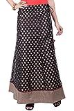 Rene Women's Black Chanderi Weave Flared...
