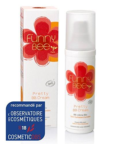 Funny Bee Paris - Pretty BB Cream Bio - Soin hydratant éclat 40 ml femmes - Crème hydratante pour peaux jeunes et peaux matures - Crème illuminatrice anti-imperfections Perfecteur de teint