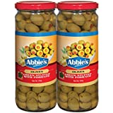 Abbie's Green Stuffed Olives, 450g, Pack of 2, Product of Spain