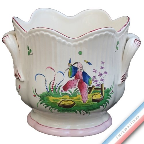 Collection CHINOIS - Cache pot 'Grand' Louis XV - H 19 x D20 cm - Lot de 1