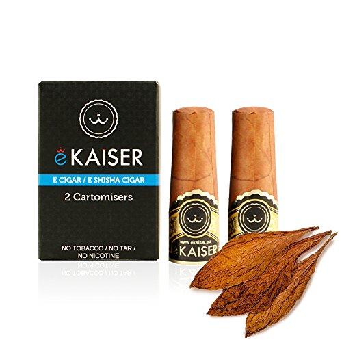 2er Pack Einweg-Cartomizer mit *Klassischem Zigarrengeschmack* für bis zu 700 Züge für die wiederaufladbare E-Zigarre / E-Shisha Zigarre von eKaiser