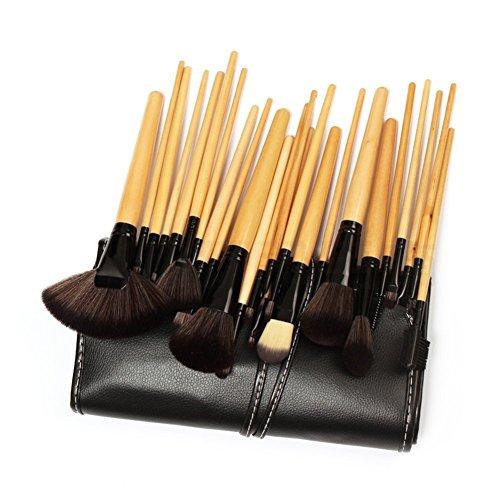 Everbuy 24 Pieces Makeup brushes set cosmetic brushes Professional Face Eye Shadow Eyeliner Foundation Blush Lip…