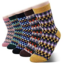 SHOLOV Calcetines Mujer, Calcetines Antideslizantes Termicos Mujer, Calcetines Divertidos, Calcetines Pinkis Mujer,