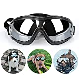 TVMALL Haustier Sonnenbrille Anti-UV Hundebrille Schutzbrille Eye Dog Brille Wasserdichter, Verstellbarer elastischer Schultergurt Geeignet für große und mittlere Hunde im Freien