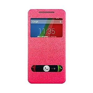 Karpine Flip Cover For Motorola Moto G (4th Gen) - Pink
