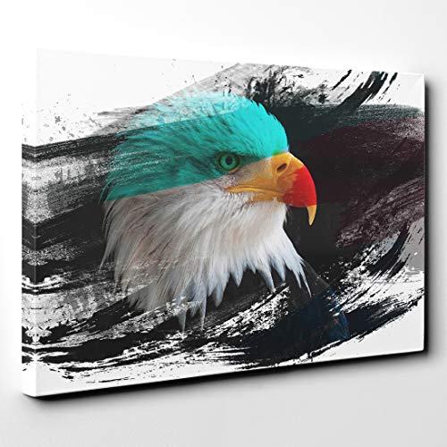 Arty Pie Canvas Print 20 x 14 Inch (50 x 35 cm) Bald Eagle V2, Wood, Multi-Colour, 50 x 35 x 3 cm (Bald Eagle Artwork)