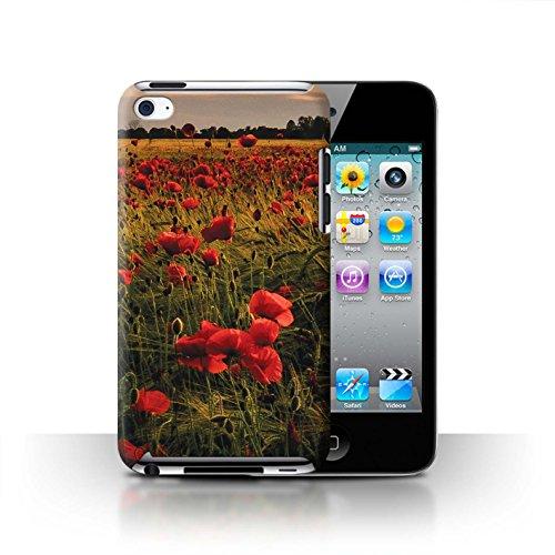 Stuff4 Hülle / Case für Apple iPhone SE / Mohnfeld Muster / Mohnblumen Kollektion Mohnfeld