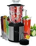 2in1 1.500 Watt Hochleistungs Glas Edelstahl Standmixer Smoothie Maker Universal Küchen Mixer Shaker Impulse Funktion Ice-Crusher Inklusive Zerkleinerer Kaffeemühle (2in1)