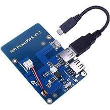 Kuman batería de litio pack expansión Junta fuente de alimentación con interruptor + Micro USB Cable para Raspberry Pi 2 modelo B, Pi 2 modelo B & Pi 1 Model B+ A+ A ky68