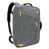 WIWU 3 in 1 Schultertasche Handtasche Laptop Rucksack für 17 Zoll Schulrucksack Umhängetasche mit Laptopfach Zubehörfächer passt Laptops Notebooks MacBooks Multifunktion Rücksack (Grau, 17,3)