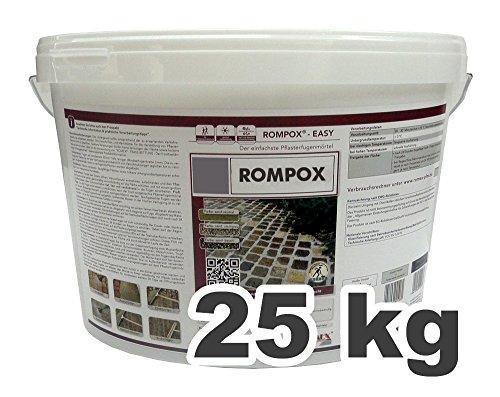 Romex Pflasterfugenmörtel ROMPOX EASY 25 kg-Eimer STEINGRAU (3,16€/kg)