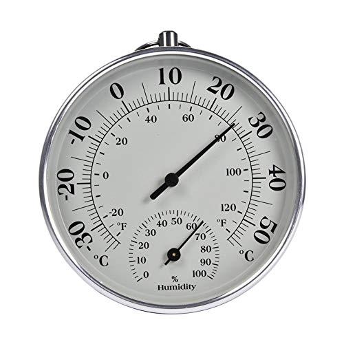 EZIZB 10CM Barómetro Termómetro Pantalla Analógica