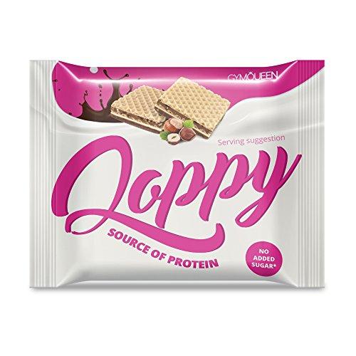 Leckere Schokoladen Protein Waffeln für Unterwegs mit Protein Creme Füllung | Schoko Waffers, Cookies and Cream, als Alternative zu Eiweiß Riegeln mit Whey Protein | Gym Queen Qoppy - 5 x 25g