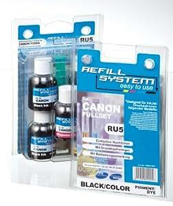 KMP RU5 KMP Tintenpatrone Universal-Refillsystem für Canon Pixma, schwarz/farbe