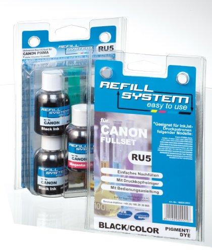 KMP RU5 KMP Tintenpatrone Universal-Refillsystem für Canon Pixma, schwarz/farbe - 4000 Inkjet-refill -