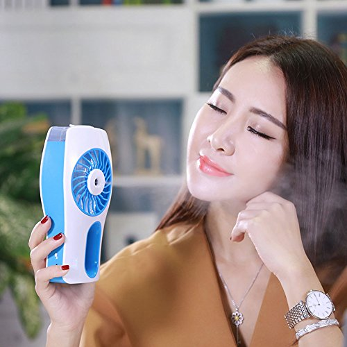 Doxungo. Ventilador personal mini USB con 3 velocidades, rehidratante,...