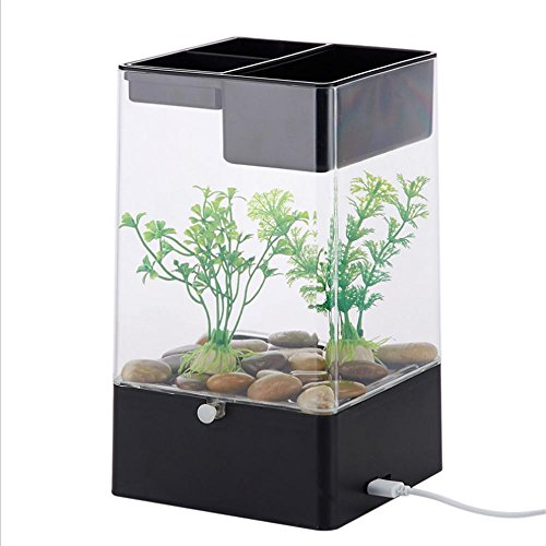 Ruyi&JixiangKlein frei Wasser Creative Desktop Fish Tank Acryl faul entspannt
