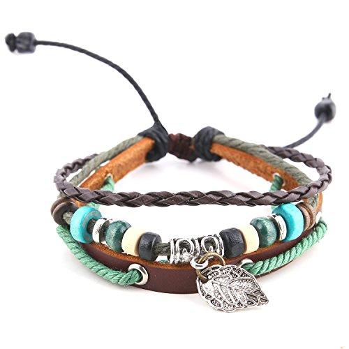 morella-bracelet-femme-tresse-en-cuir-avec-perles-et-pendentif-feuille