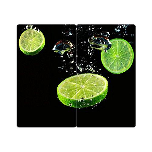 Cubiertas de acero 2m. Grano de cristal Decoración de cristal Set herdabdeckung Tabla de cortar Protección antisalpicaduras cal
