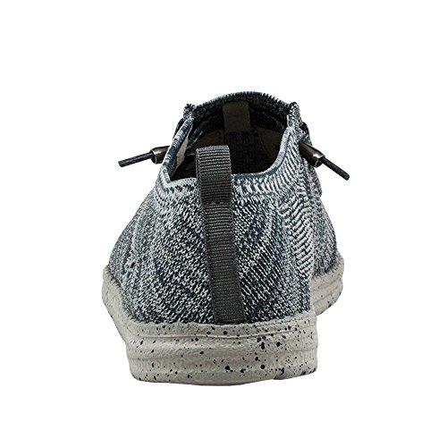 Dude Shoes Männer Wally Stricken Multi Grau Einteilig Stricken Grau