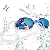 VETOKY Schwimmbrille, Antibeschlag Schwimmbrillen UV Schutz Kein Auslaufen für Erwachsene Herren...