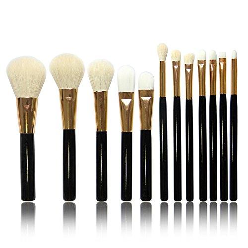 Hrph 12pcs Ensembles Kit Pinceaux de Maquillage Cosmétiques Professionnels Brosses Sourcils Poudre Rouge à Lèvre Fard à Paupière Make Up Tool Set