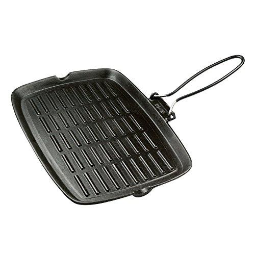 Excelsa 33912 dieta grill bistecchiera rettangolare, 36 x 24 cm, ghisa smaltata