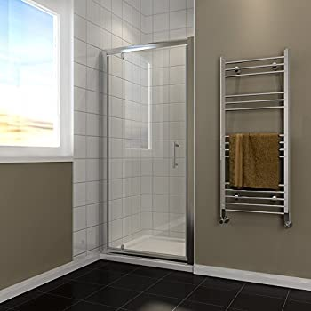 760mm Pivot Hinge Shower Door 6mm Safety Glass Reversible Shower