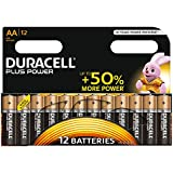 Duracell Plus Power Piles Alcalines type AA, Lot de 12