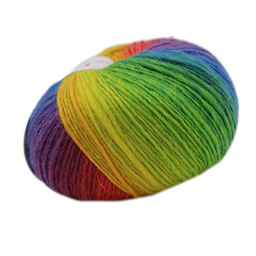 Generic Wool Knitting Soft Yarn Fingering Crochet Yarn Knitting Thread Dyed Hand