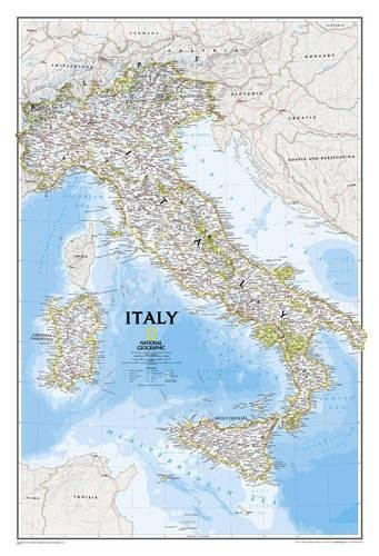 Italy Classic, laminated : Wall Maps Countries & Regions: PP.NG602297 (Reference - Countries & Regions) par National Geographic Maps