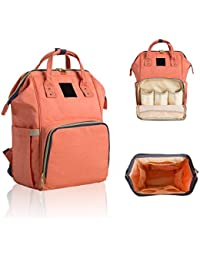 Baby Diaper Bags Backpack Diaper Bag Organizer Insulated Waterproof Travel Backpack Multi-Functional Mom And Dad...