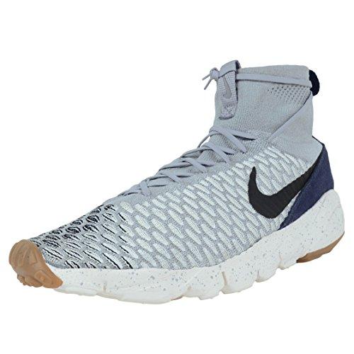 Nike Herren Air Footscape Magista Flyknit Fußballschuhe Mehrfarbig (Wolf Grau/sail/dark Obsidian/schwarz)