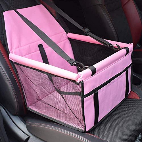 Caidi pieghevole Pet booster Car Seat–Due barre di sostegno, portatile piccolo cane gatto trasporto auto guinzaglio di sicurezza con cerniera e tasca portaoggetti
