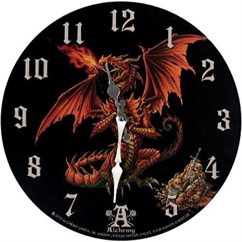Reloj de pared! Theotholax! Tartanus! Figura! Dragón! Motivo del reloj!