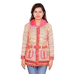 ahhaaaa Women's Wool Quilted Cardigan (PNK674_Pink_M)