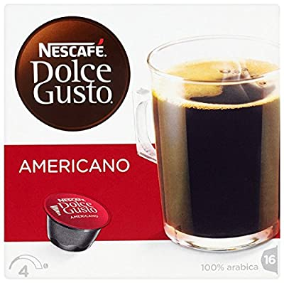 Nescafe Dolce Gusto Caffè Americano 16 Capsules - Pack of 3 (Total 48 Capsules, 48 Servings)