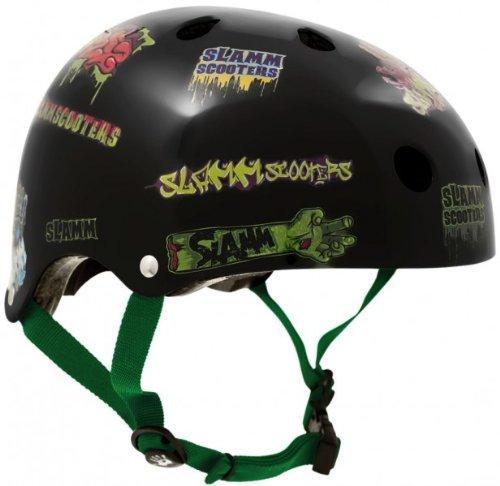 Slamm Skateboard / Scooter Sticker Schutz Helm Bmx, Inliner, Longboard Helm - Skateboard Schutzausrüstung , Grösse:S-M -