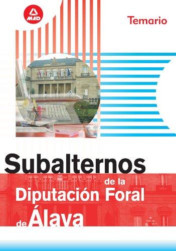 Subalternos De La Diputación Foral De Álava. Temario
