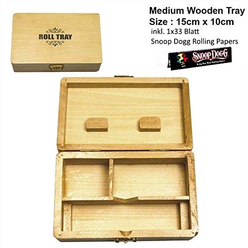 Mittleres Rolltablet aus Holz 15x8cm