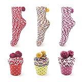 SAMGOO 1 oder 3 Paar Cupcakes Design Mädchen Damen Socken