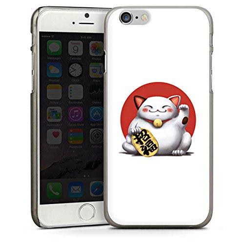 Apple iPhone 4 Housse Étui Silicone Coque Protection Kawaii Chat Japon CasDur anthracite clair