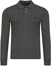 Mens Ralph Lauren Long Sleeve Small Pony Custom Fit Polo Shirt. Factory Seconds