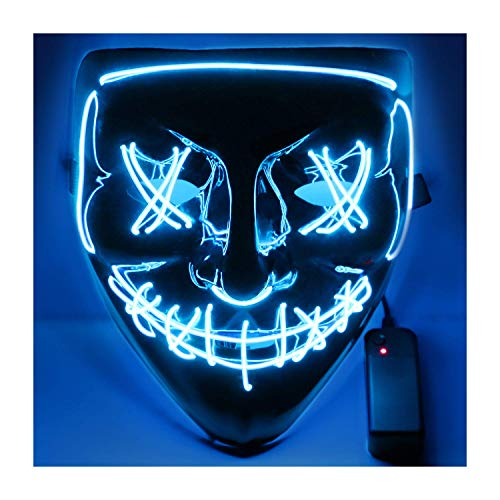 USCVIS Halloween LED Máscaras, Adultos LED Mask Craneo Esqueleto Mascaras para la Fiesta de Disfraces, la Navidad, Cosplay Grimace Festival Party Show