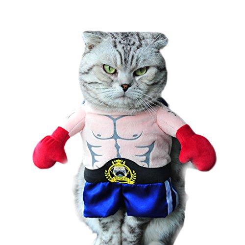 GWELL Lustig Bekleidung Kostüm Kleider Cosplay für Hund Katze Haustier, Boxer Kostüm, L
