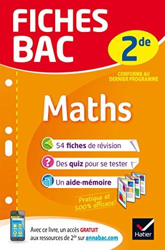Fiches bac Maths 2de: fiches de rvision Seconde