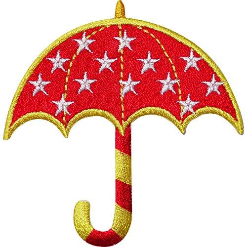 Regenschirm bestickt Eisen/Sew On Patch Girl T Shirt Jeans Jacke Gap Hat Badge