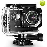 Pictek Caméra de Sport WIFI Embarquée 12MP Full HD 1080P Etanche