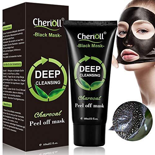 Maschera nera, Maschere Comedone,Black mask punti neri,rimuove punti neri pulizia profonda Peel Off Maschera Carbone di bambù Maschera di fango,Shrinking Pores