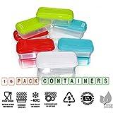 ARSUK Set di contenitori per alimenti, contenitori per alimenti ermetici contenitori di plastica riutilizzabili con coperchi impilabili per microonde freezer lavastoviglie lunch box (16 pezzi)